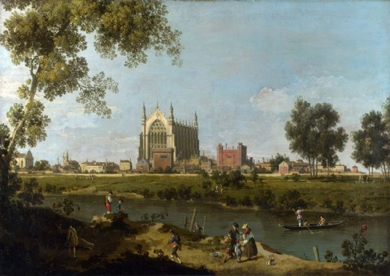 Canaletto, Giovanni Antonio Canal: Eton College. Fine Art Print/Poster. Sizes: A4/A3/A2/A1 (003450)